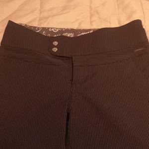 LULULEMON ATHLETICA Black Pinstripe Flared Pants